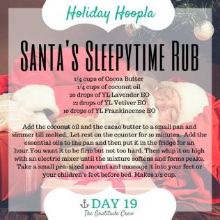 19 DIY Santas Sleepytime Rub
