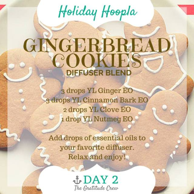 Gingerbread Cookies Diffuser Blend